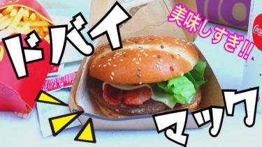 ドバイでマックを食べてみた。世界各地のマックを食べ比べして物価を計測(ドバイ編)