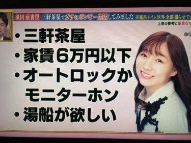 【ボンビーガール】上京ガールに『SKE48の須田亜香里』が登場?ガチで6万円の三軒茶屋の物件に引っ越し!内見物件&SNSの賛否両論まとめ。